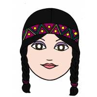 Disegno di Maschera di Indiana a colori