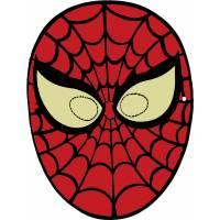 Disegno di Maschera di Spiderman da Ritagliare a colori