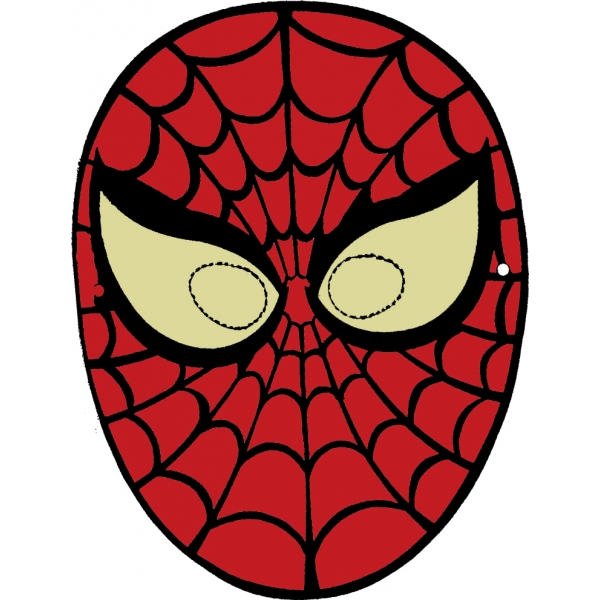 Disegno di maschera di spiderman da ritagliare a colori for Spiderman da colorare on line