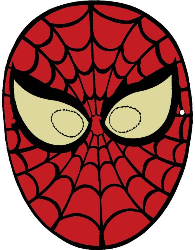 Disegno di maschera di spiderman da ritagliare a colori for Immagini di spiderman da colorare