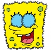 Disegno di Maschera di Spongebob da Ritagliare a colori
