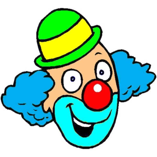 Disegno di clown a colori per bambini for Disegno pagliaccio colorato