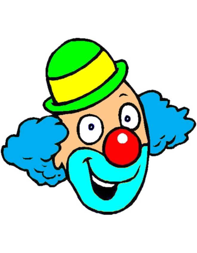 Stampa disegno di clown a colori for Disegno pagliaccio colorato