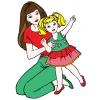 Disegno di Barbie e la Bambina a colori