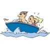 Disegno di Barca con Bambini a colori