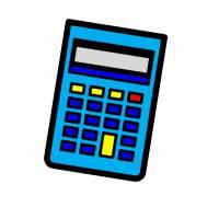Disegno di Calcolatrice a colori