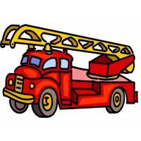 disegno di Camion dei Pompieri a colori