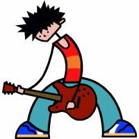 disegno di Cantante Rock a colori