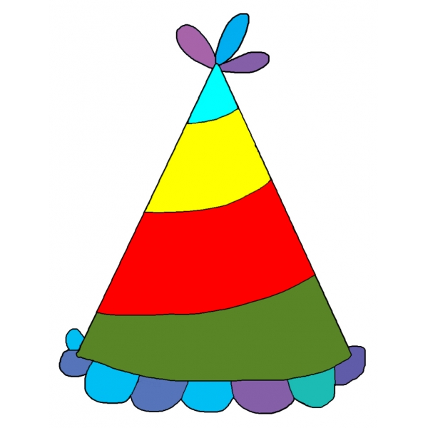 Disegno di Cappellino per Feste a colori