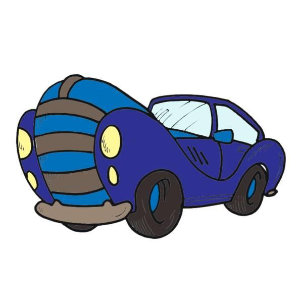 Disegno di Automobile a colori