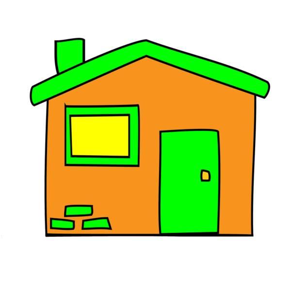 Disegno di la casetta a colori per bambini for Casa disegno