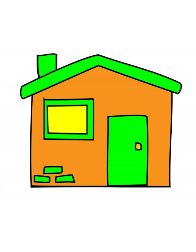 Disegno di la casetta a colori per bambini for Case pc colorati