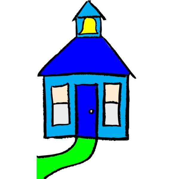 disegno di casetta a colori per bambini - disegnidacolorareonline.com - Disegni Case Bambini