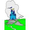 disegno di Castello Incantato a colori