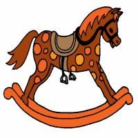 Disegno di Cavallo a Dondolo a colori