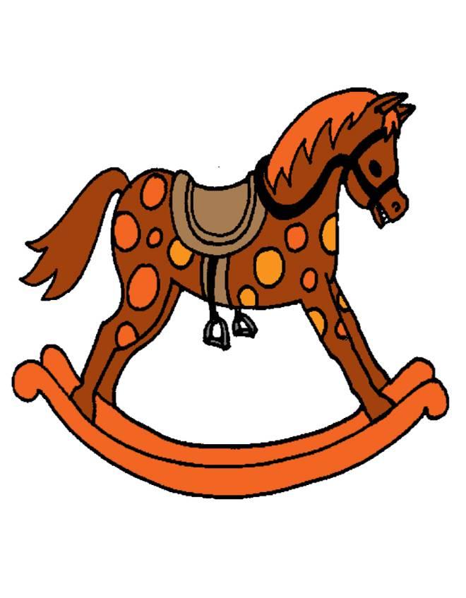 Disegno di cavallo a dondolo a colori per bambini for Disegno cavallo stilizzato