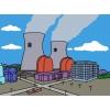 Disegno di Centrale Nucleare a colori