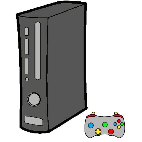 Disegno di Console Giochi a colori