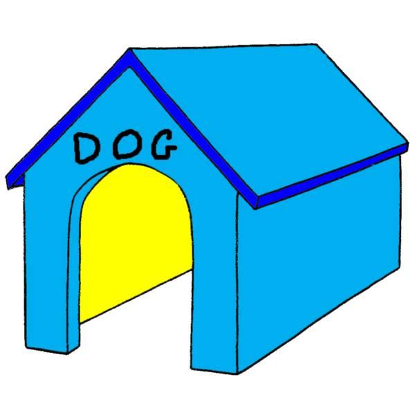 Disegno Di Cuccia Del Cane A Colori Per Bambini
