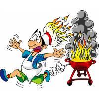 Disegno di Cuoco al Fuoco a colori