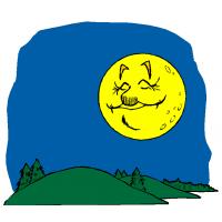 Disegno di La Luna e Le Colline a colori