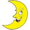 Disegno di Luna a colori