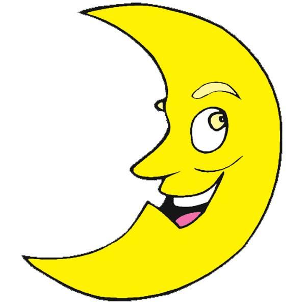 Disegno di luna a colori per bambini
