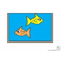 Disegno di Acquario a colori