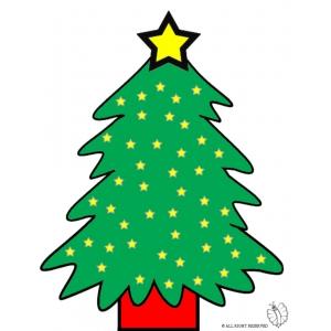 Disegno di albero con stelle a colori per bambini gratis for Stelle da colorare per bambini