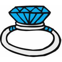 Disegno di Anello con Diamanti a colori