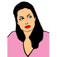 Disegno di Angelina Jolie a colori