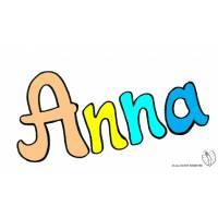 Disegno di Anna a colori