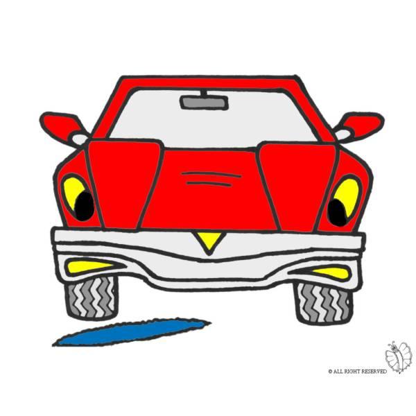 Disegno di L'Auto e la Buca a colori