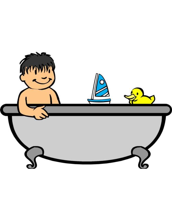 Disegno di bagnetto in vasca a colori per bambini for Disegno bagno online