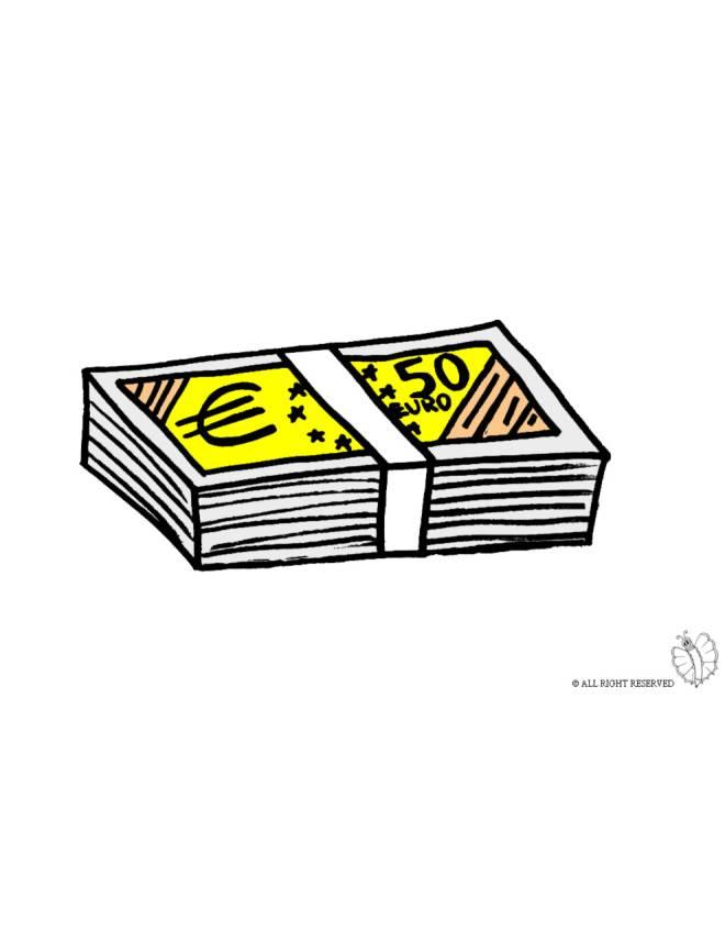 disegno di Banconote a colori