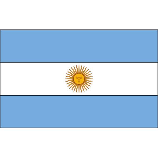 Disegno di Bandiera Argentina a colori