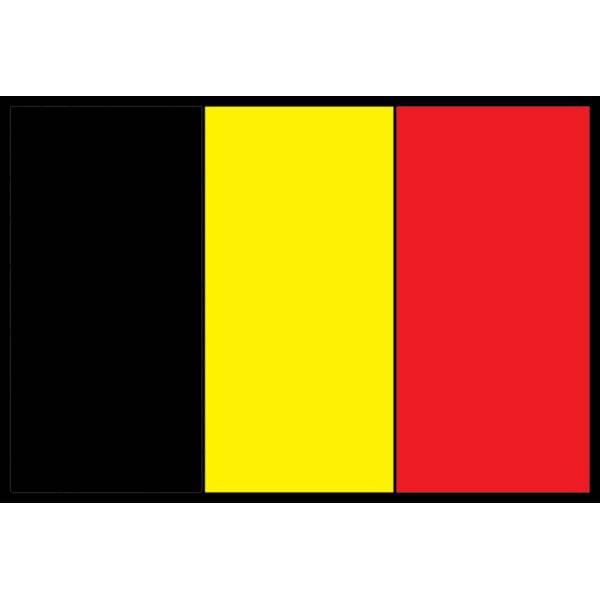Disegno di bandiera del belgio a colori per bambini