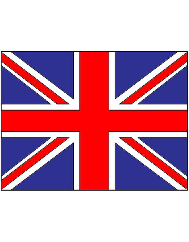 Disegno di bandiera del regno unito a colori per bambini - Bandiere bianche a colori ...