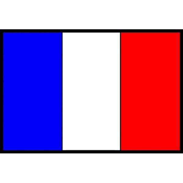 Disegno di Bandiera Francese a colori
