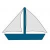 Disegno di Barca da Regata a colori