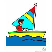 Disegno di Barca a Vela a colori