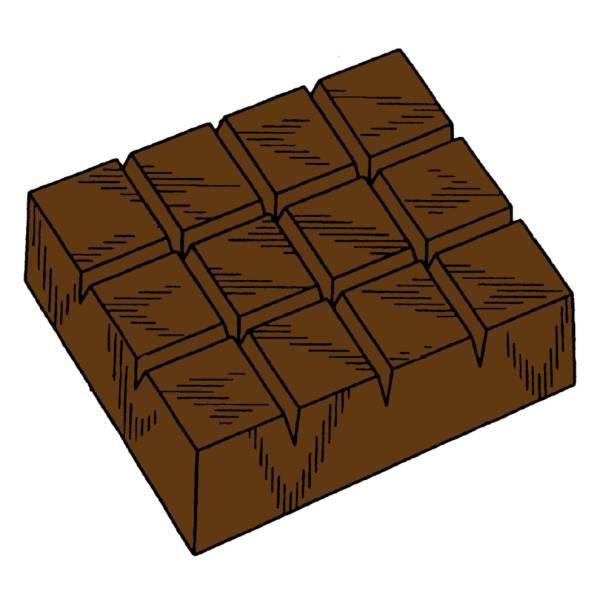 Tavoletta Di Cioccolato Disegno.Disegno Di Barretta Di Cioccolato A Colori Per Bambini