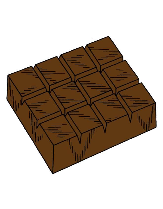 Disegno di barretta di cioccolato a colori per bambini - Immagini di marmellata di animali a colori ...