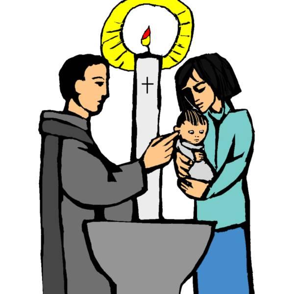 Disegno di Battesimo a colori