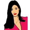 Disegno di Belen Rodriguez a colori