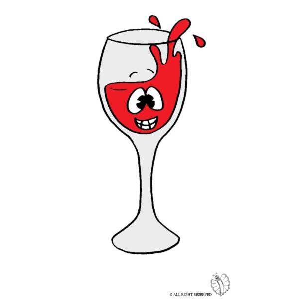 Vino vetro svg bottiglia di bicchieri di vino clipart | Etsy