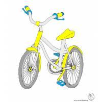 Disegno di Bici a colori