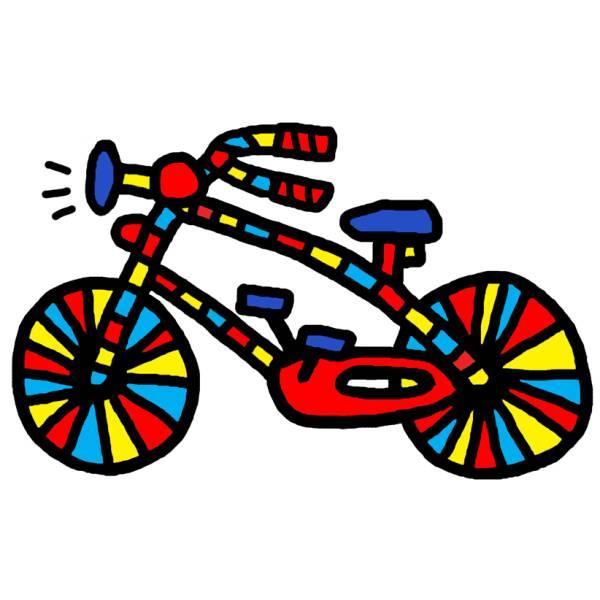 Disegno Di Bicicletta A Colori Per Bambini Disegnidacolorareonlinecom