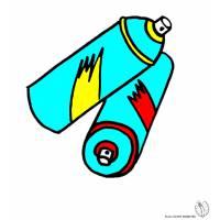 disegno di Bombolette Spray a colori