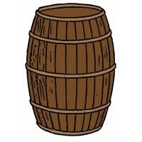 Disegno di Botte di Vino a colori